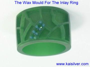 wax mould for the gemstone inlay ring