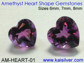 Heart Shape Amethyst For Amethyst Cladagh Ring
