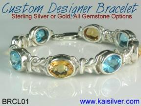 custom bracelet with gemstone