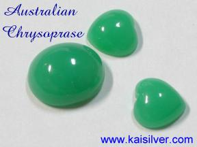Chrysoprase gemstones from Australia