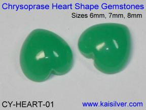 Heart Shape Chrysoprase Gemstone For Chrysoprase Cladagh Rings