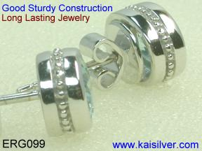 yellow or white gold earrings