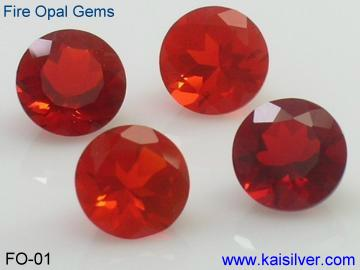 Fire opal gemstones, color of fire opal gems