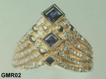 Big Sapphire Ring Custom Made