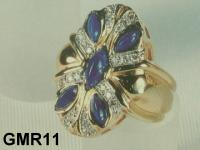 Big Lapis Gold Ring (Blue Lapis Ring)