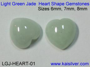 Light Green Jade Gemstones For Green Jade Cladagh Rings