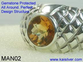 custom man gold ring with gem stone