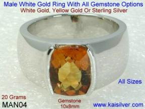 Male White Gold Rings