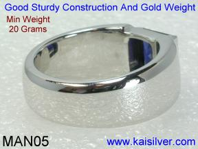 Sapphire Gold Rings For Males