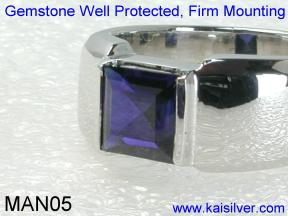 Saphire Gemstone Rings For Males