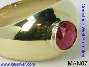 Male Rings With Ruby Gemstone