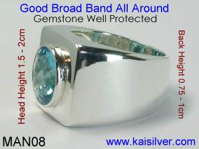 Custom Made Gemstone Rings For Men