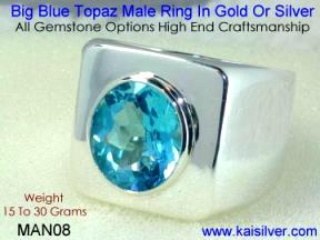 Gents Gem Stone Rings