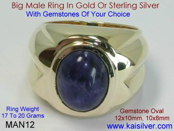 Custom Designed Man Rings