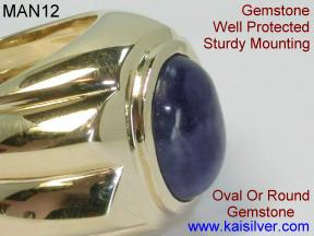 Mens Rings With Gemstones