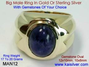 Gents Gold Rings Custom Made