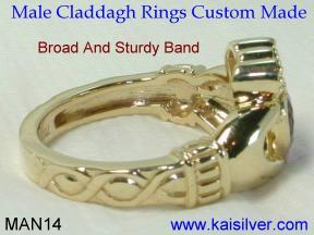cladag man gem stone rings