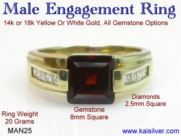 Engagement ring for men