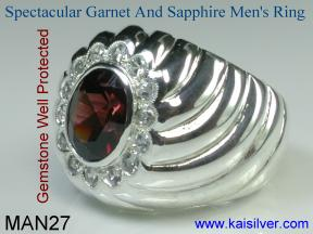 Garnet man jewelry