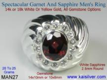 [CLICK IMAGE] For Details Of, Garnet ring for gents