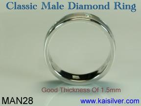 Man diamond engagement ring