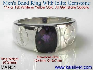 mens silver or gold ring with yin yang symbol