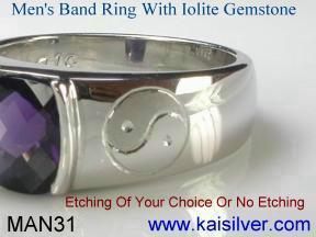 custom gold man rings