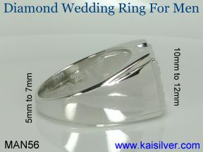 white gold man diamond wedding ring