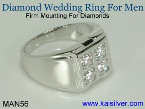 gold diamond wedding ring for men