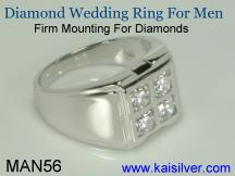 Diamond male ring