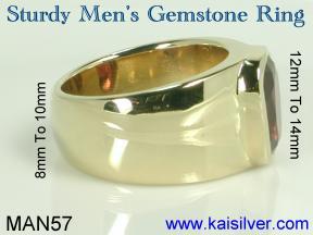 birth stone man ring big gem stone