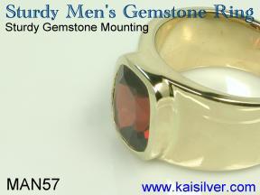 garnet birthstone ring for men