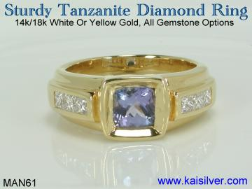 man tanzanite ring