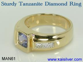 custom tanzanite man ring