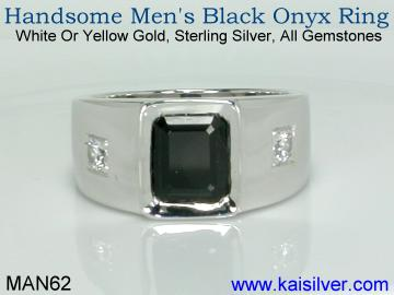 Custom man onyx ring
