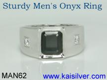 male onyx ring