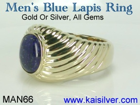 gem stone rings for men, lapis lazuli ring