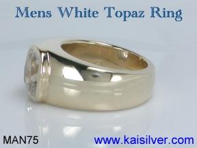 mens topaz gem stone rings kaisilver