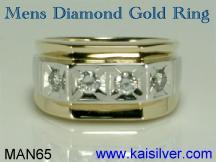 mens diamond rings 14k or 18k diamond ring for men