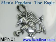 men's pendant in silver or gold