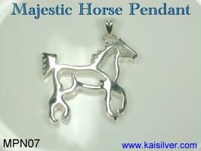 man horse pendant sterling silver or gold