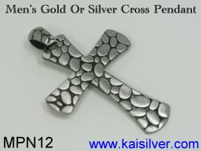 custom gold or sterling silver mens cross