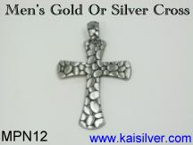 man cross pendant made to order