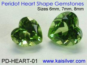 Heart Shape Peridot Gems For Peridot Cladagh Rings