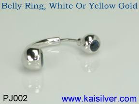 gemstone belly rings