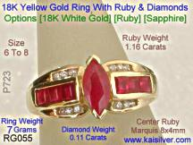 ruby gold ring with diamonds