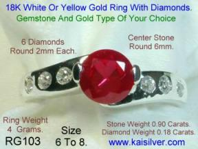 Ruby Gemstone Ring From Thailand