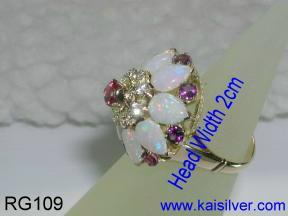 Thai princess ring, antique asian princess ring