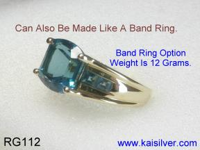 Topaz Gold Ring Side View