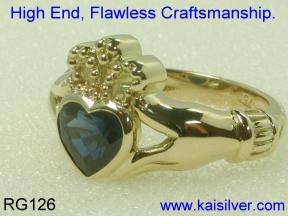 Claddagh Rings, Side View Fine Craftsmanship